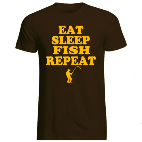 Volonté sleep fish Repeat-T-Shirt-All Sizes Cols Gildan Branded Fishing Carp