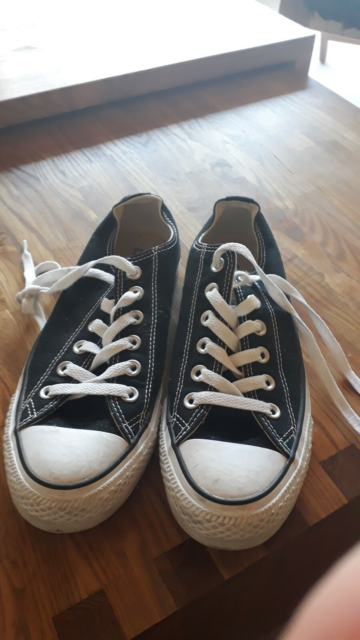 Sneakers, str. 39, Converse all star,  Sort,  Lærred,…