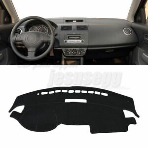 ZHIXIANG Car Dash Dashboard Cover Mat Pad Dashmat Sun Shade Instrument Carpet Accessories Fit For Suzuki Swift Sport 2005 2006 2007-2009 2010 Color Name : Black