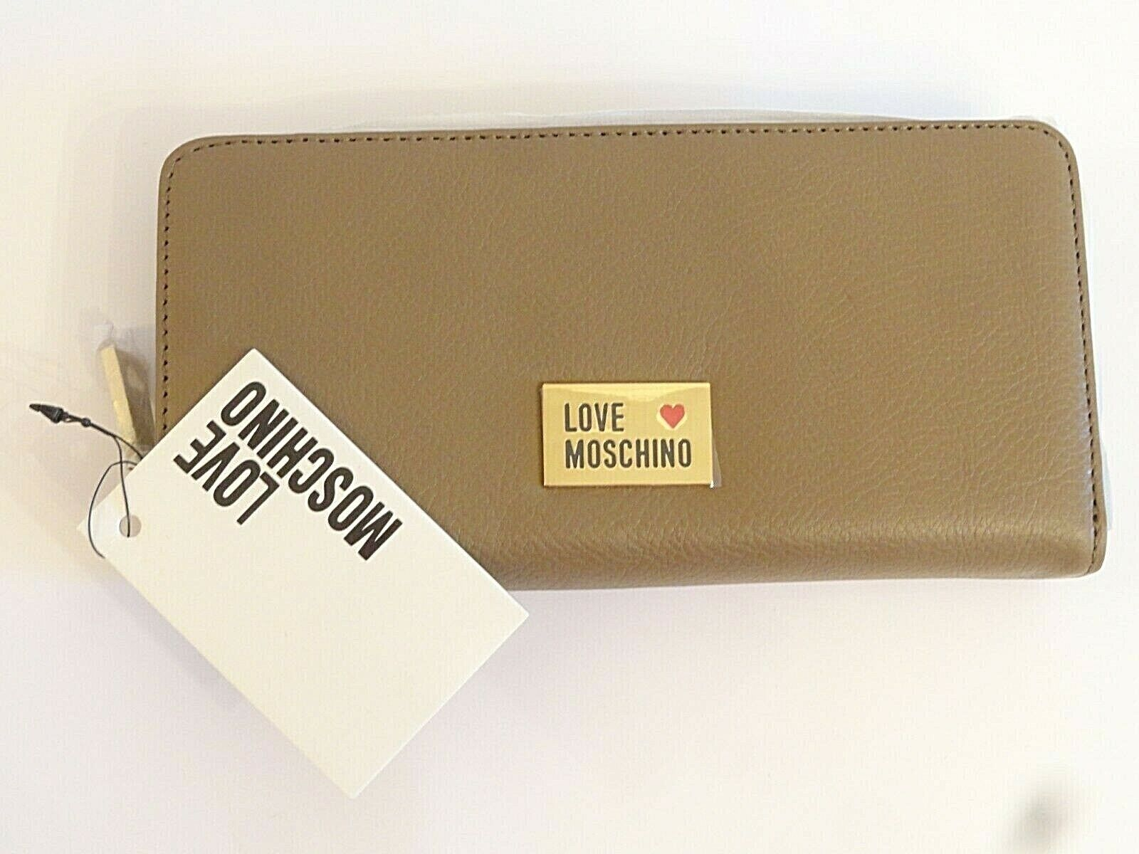 Love Moschino Taupe Leather Purse Boxed BN