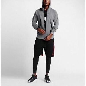 Nike-Air-Jordan-Lite-Fleece-Full-Zip-Hoodie-Men-039-s-Medium-Gray-724786-065-150