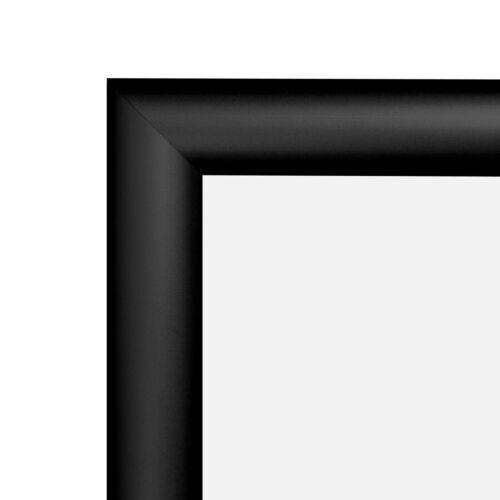 "18 x 24 Black Snap Frame 18x24 MDI PosterGrip Front Loading Frame 1/"" profile"