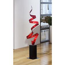 Red Modern Abstract Indoor/Outdoor Metal Art Sculpture by Jon Allen - Red Twist