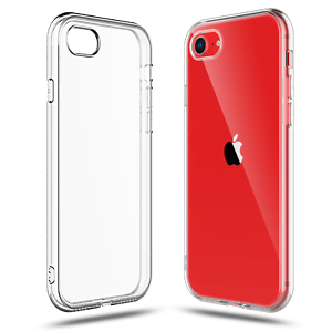 Case for iPhone SE (2nd Generation, 2020), 7 and 8 Clear Transparent TPU Soft