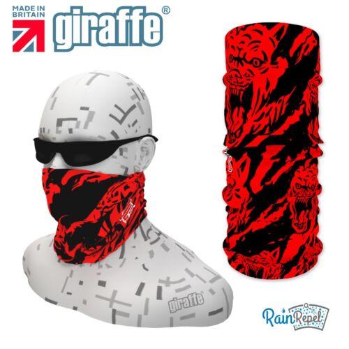 G321 wolf scratch rouge blac coiffure nuque multifonctionnel bandana bandeau