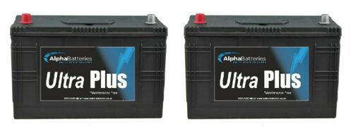 PAIR OF 12V 644 90ah HEAVY DUTY BOAT ENGINE STARTER BATTERIES