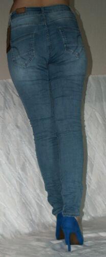 Donna Jeans reversibile Jeans Pantaloni Jeggings Stretch Skinny Tregging Legging Fiori Stampa
