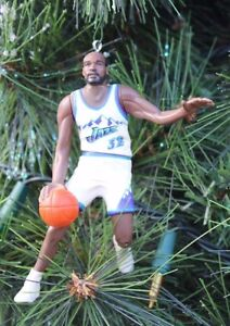 competitive price 1c570 2f64b Details about UTAH JAZZ CHRISTMAS ORNAMENT KARL MALONE white jersey