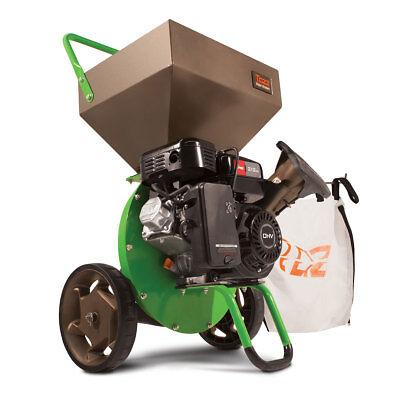 Earthquake 30520 Tazz Viper Compact Gas Wood Chipper Shredder w/ Mulch Bag