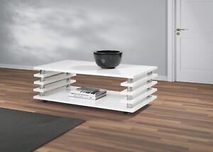 Details zu Couchtisch Tisch Wohnzimmertisch Hochglanz weiß 115x65 cm LACK  Kratzfest