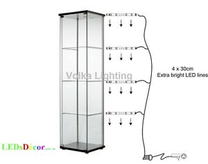Genial Image Is Loading Glass Display Cabinet Lights Cool White