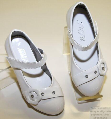 Chaussure Ballerine Fille Mariage Baptême Cérémonie Strass Vernis simili cuir!
