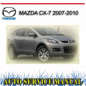 mazda cx 7 workshop manual pdf