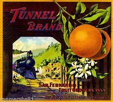 San Fernando Los Angeles Don Fernando Orange Citrus Fruit Crate Label Art Print