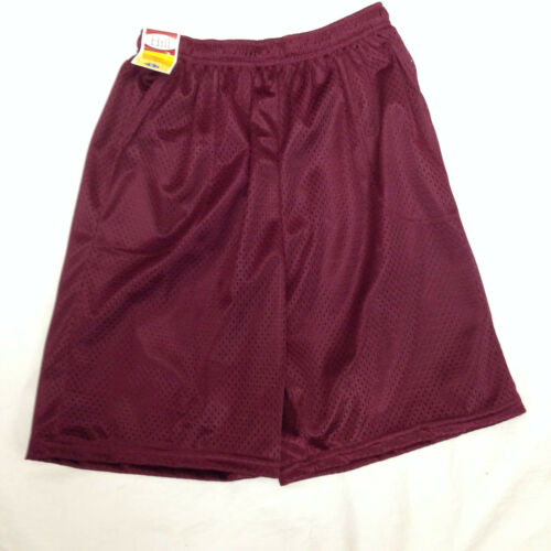 Men/'s Mesh Jersey Athletic Fitness Workout Colors Shorts with Pockets