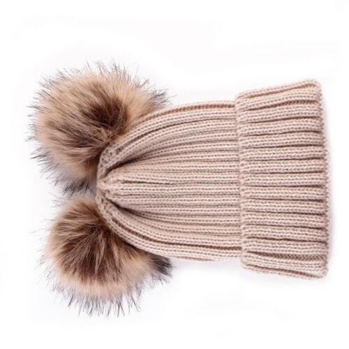 Newborn Toddler Baby Girls Boys Hats Warm Winter Knitted Wool Hemming Hat Cap CP