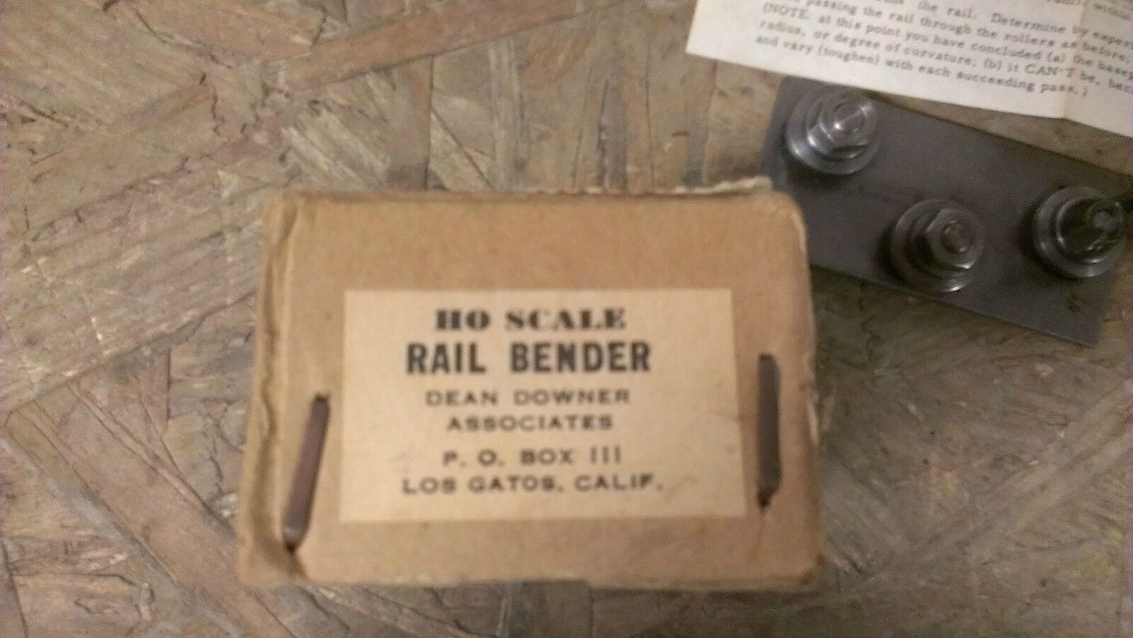 HO Scale Vintage Rail Bender By Dean Downer Associates