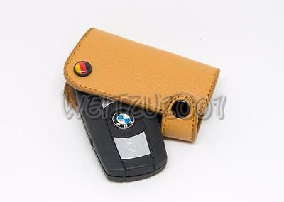 BMW E60 E61 E87 E90 E91 E92 E93 335i 320i leather Key case cover in Red Color