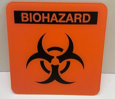 DECOR BIOHAZARD- metal sign WALL ART collectible sign man cave or kids room