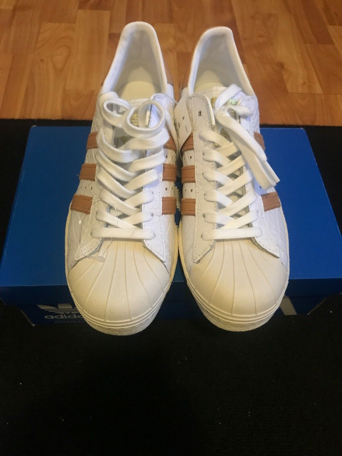 Adidas Superstar 80s Shelltoes Men's Shoes Size 9 Off-White