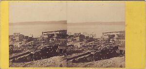 Marsiglia Francia Panorama Vecchio Port Stereo Foto Vintage Albumina c1860