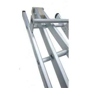 2.4M (8`) DOUBLE A ALUMINIUM WINDOW CLEANERS / CLEANING LADDER GLAZING BLOCK