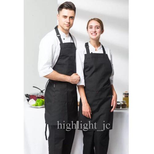 2x Küchenschürze Latzschürze Gastronomie Grill Koch Schürze Vorbinder Unisex Set