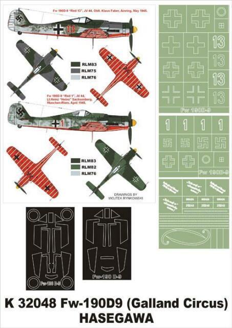 Cutting Edge 1:32 Fw 190D Blown Canopy//Wheel Hub Masks for Hasegawa CEBM32013
