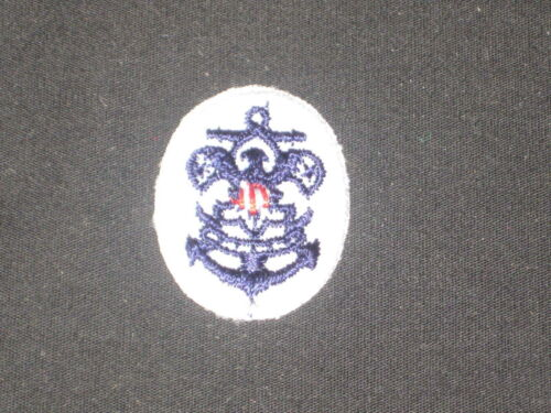 Sea Scout Emblem on White Oval Patch 30 by 23 mm  c20