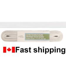 White Braided elastic 1//2inch x 4.5yard //13mm x 4.1m Fast Shipping from Canada