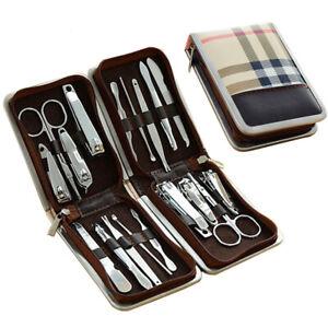 Kit-Manucure-9-pieces-avec-Etui-Coupe-ongle-Ciseaux-Pince-epiler-etc