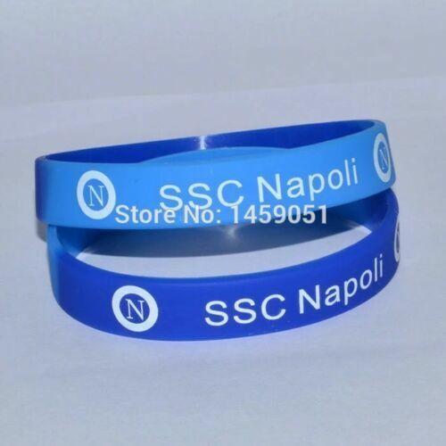 Braccialetto Napoli  in Gomma silicone bracciale Squadra calcio Napoli azzurro