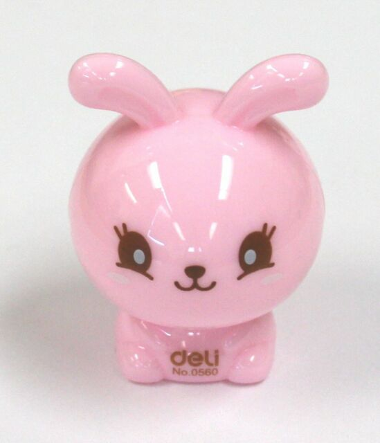 Cute Happy Lil Rabbit Bunny Pencil Sharpener Great Gift For Children - Pink
