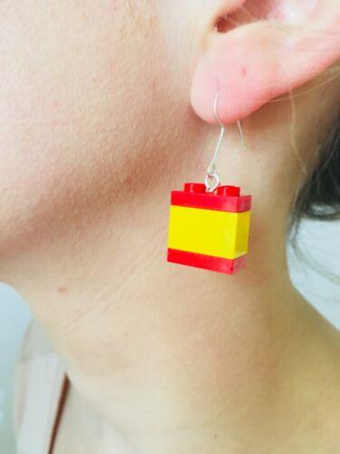 Pendientes Lego Viva Espana Earrings Boucles d/'Oreilles Red // Yellow