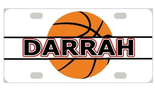 BASKETBALL Personalized Kids MINI LICENSE PLATE Any Name Bicycles Door Sign