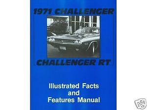 1971 71  CHALLENGER//RT FACTS /& FEATURES MANUAL