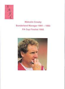 MALCOLM-CROSBY-SUNDERLAND-MANAGER-1991-1993-ORIGINAL-HAND-SIGNED-PICTURE-CUTTING