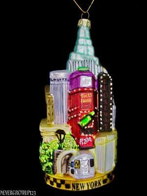 BLOWN GLASS NEW YORK CITY CHRISTMAS ORNAMENT~TIMES SQUARE ...