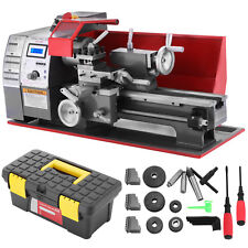 "Mini Metal Lathe Machine 7"" x 12"" Brushless Motor Metalworking Woodworking Tool"