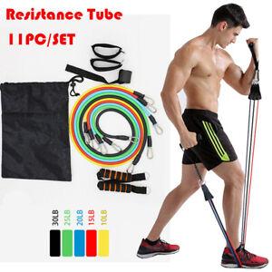 11pcs-Resistance-Bands-SetS-Exercise-Yoga-Fitness-Tubes-Workout-Training-Rubber