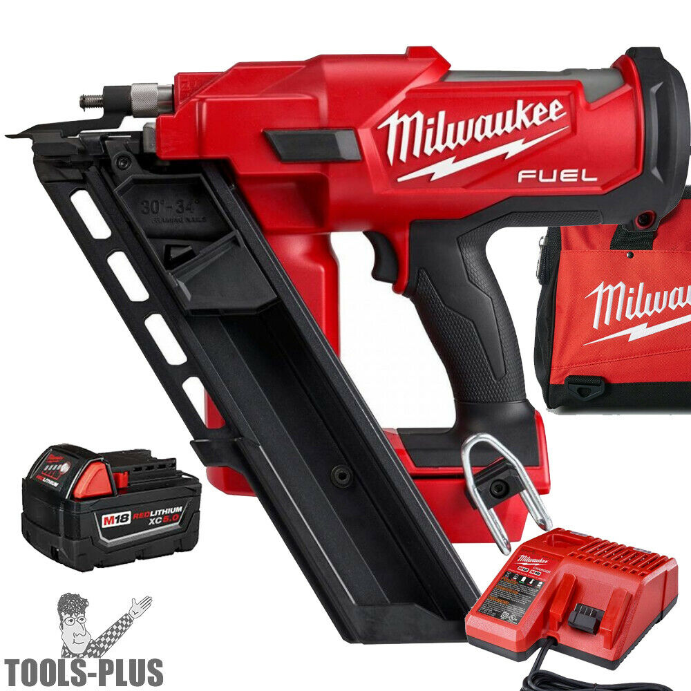 Milwaukee 2745-21 M18 FUEL 30 Degree Framing Nailer w/5.0Ah Battery+Charger New. Buy it now for 444.00