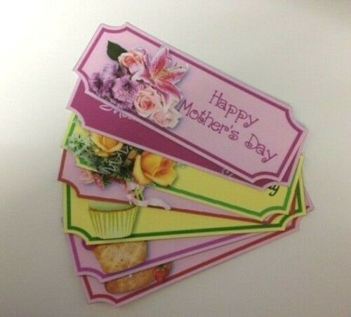 7 Large HAPPY MOTHER/'S DAY Sentiment Banners Card Making Craft Embellishments