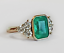 2-45Ct-Emerald-Cut-Green-Emerald-Antique-Vintage-Ring-14K-Yellow-Gold-Over thumbnail 4