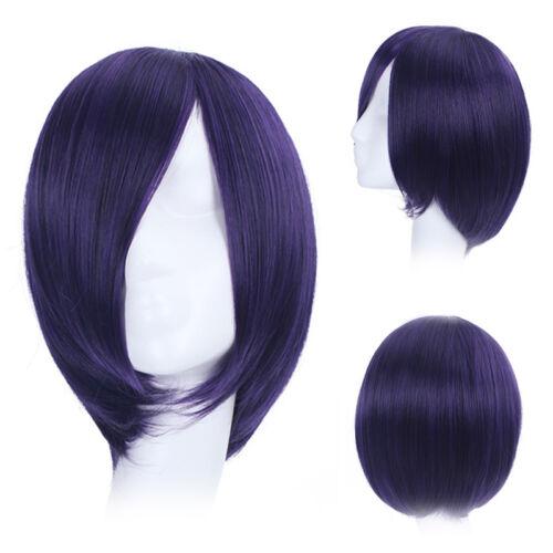 Tokyo ghoul Touka Kirishima Toka perruque wig cosplay costume violet bleu femmes