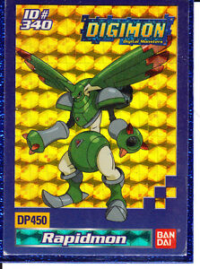 A halo Rapidmon Digimon card + Sleave