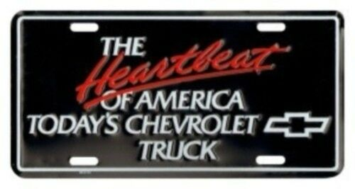 """CHEVROLET /""""Heartbeat of America Today/'s Chevrolet Truck/"""" License Plate"""