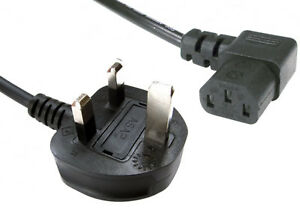 2m-6ft-UK-3-Pin-Power-Mains-Plug-Lead-Right-Angle-90-Degree-Head-C13-PSU-Cable