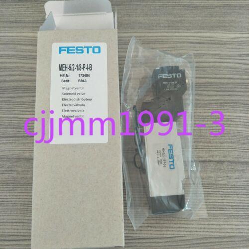 173404 1PC NEW FESTO solenoid valve MEH-5//2-1//8-P-I-B DC24V