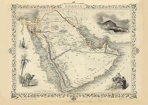 Alte Kanada Illustriert Landkarte Tallis ca 1851