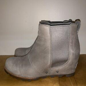 de95b5ff869 Sorel Lea Wedge Kettle Grey 9 Joan Arctic Ankle Boot Chelsea Good ...